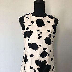 Faux Fur Cow Print Dress by GAP